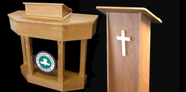 range of Pulpits ideally suited to meet all budgets and easily adapted for use in every church