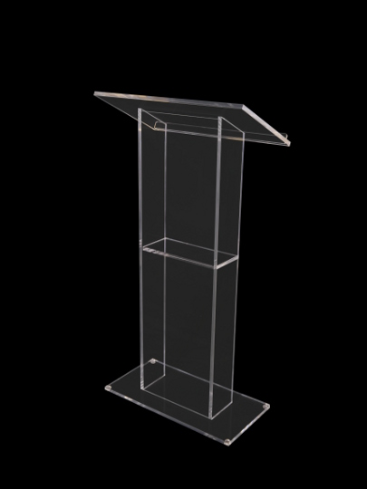 Abacus Lectern Clear